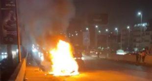 فلقت الحجر اشتعال النيران في سيارة احمد حسن وزينب الجديدة