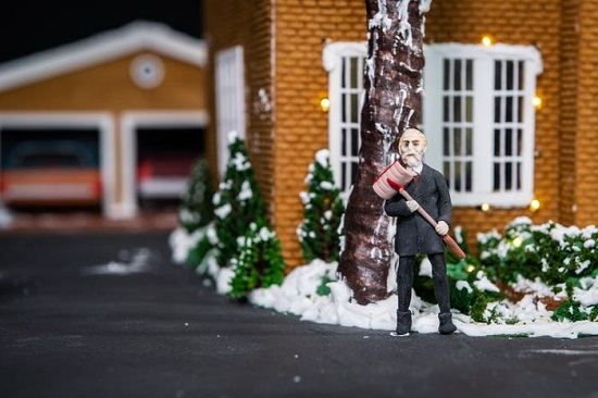 كعكة فيلم الاحتفال بليلة رأس السنة الجديدة Home Alone6