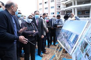 وزيرة الصحة تتفقد أعمال الإنشاءات بمستشفى التل الكبير