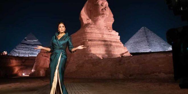 هند صبري تعلق على مشاركتها في حفل نقل المومياوات الملكية