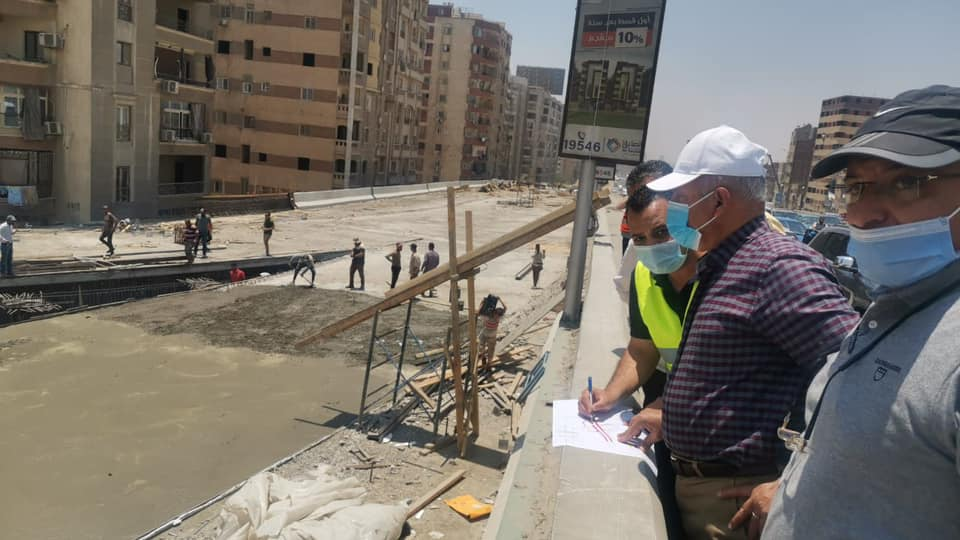 كامل الوزير يتابع أعمال التوسعة والتطوير والصيانة الشاملة بالطريق الدائري2