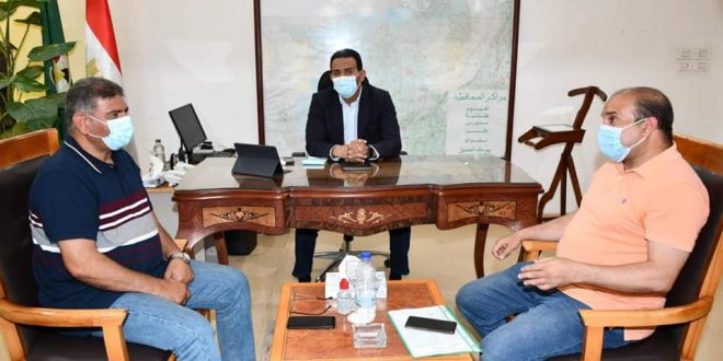 نائب محافظ الفيوم ومسئولي إستادات مصر يبحثان سبل التعاون المشترك