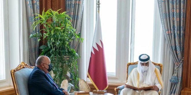 وزير الخارجية يُسلم أمير دولة قطر رسالة من رئيس الجمهورية
